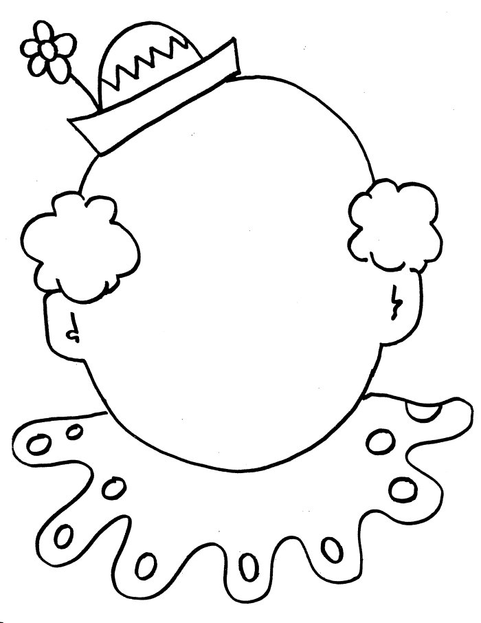 clown face coloring pages - photo#3